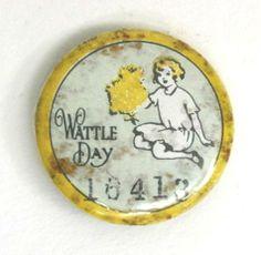 Badge - 'Wattle Day', Australia, 1914-1919 - Museum Victoria