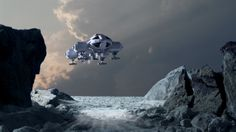 Eagle reconnoitring another barren world by Robby-Robert.deviantart.com on @deviantART