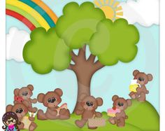 Teddy Bear Picnic Clip Art | Teddy Bear Picnic Teddy Bears Clip art Clipart Graphics Commercial Use