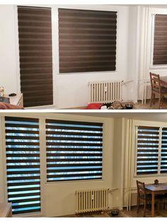 #fexi #vnitrnirolety #latkoverolety #luxusnirolety #rolety #roletydooken #denanoc #roletydenanoc #interier #inspirace #jidelna #obyvacipokoj #obyvacipokojsjidelnou #platinum Blinds, Divider, Home Appliances, Curtains, Room, Furniture, Home Decor, House Appliances, Bedroom