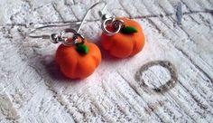 Pair of Pumpkin earrings, great for Halloween - or just if you like Pumpkins