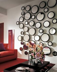 Give a spacious look to your home by making more use of reflecting mirrors. Reflecting mirrors are best-fitted to the small living rooms and bedrooms. You will be amazed to see the impact of mirrors in giving a grand look your small space. Make a mirror wall using small mirrors of different shapes rather than using a single mirror.