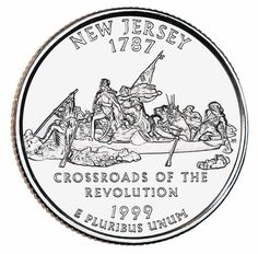 """US Minted quarter for New Jersey   """"You don't just walk into Jersey!"""" (RM)"""