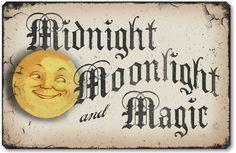 Amazon.com - Item 10013 Vintage Style Halloween Moonlight Plaque - Decorative Plaques
