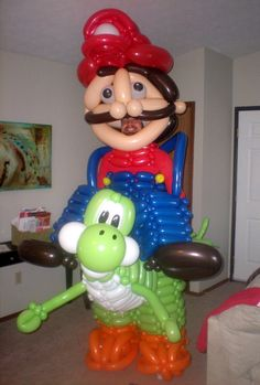 EPIC! > SHELL HIM: Mario Riding Yoshi Balloon Costume