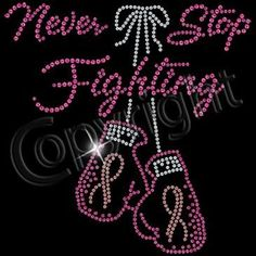 Womens Breast Cancer Shirt, Cancer Awareness Shirts, Never Stop Fighting Fight Cancer Shirt with Sequin, Cancer Ribbon Hope Survivor Shirt
