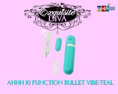 Ahhh Bullet Vibe! ExquisiteDiva.com guarantees you have never felt anything this ahhhmazing!! For only $10.65, you'll experience vibrations so strong, so sexy, & so quiet! With 10 different body trembling vibrations you will find the rhythm made for you. Experience the Ahhh every time! https://secure2.sextoyclub.com/Vibrators/Bullet-Vibrators/Ahhh-10-function-Bullet-Vibe---Teal/sku-GT613TCS?a=stclub