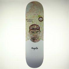 BOARD TAVU series - Koichiro Uehara - 2 sizes - Magenta Skateboards