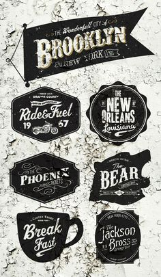 American Vintage Badges on Behance