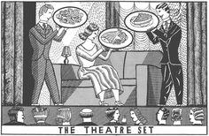 John Broadley - The theatre set menu Tumblr Drawings, Graphic Illustration, Illustrations, Old And New, Mystery, Typography, Love, Prints, Brussels
