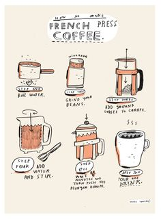 how to make french press coffee.