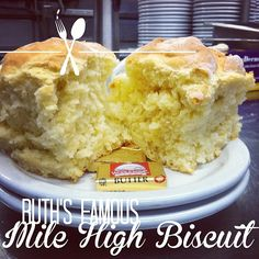 Not to brag, but our Mile High biscuits are kind of a BIG deal! #ruthsdiner #milehighxlub #biscuits