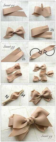 DIY étapes pour faire des jolis nœuds