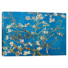 Add gallery-worthy appeal to your walls with this canvas print of Vincent van Gogh's Almond Blossom. Display it alone as an artful focal point or grou...