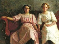 """Yvonne Tuxen and Vibeke Kroyer,"" 1909 -- by Laurits Tuxen (Danish, 1853–1927)"