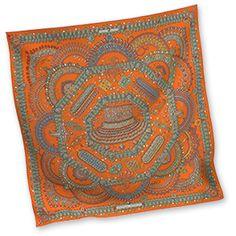 Hermes Women's Medium Silk Twill Scarves in Orange | Hermes.com