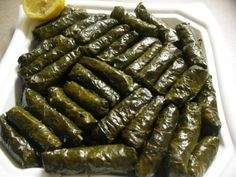 Turkish stuffed vine leaves. I used to eat it all whenever my grandma made these.