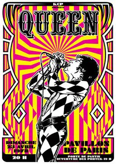 QUEEN Freddie Mercury  23 april 1978 Paris Pavillon by tarlotoys,