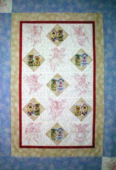Fairies Quilt - 10 redwork designs to purchase