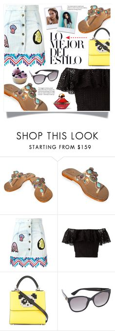 """Latina Summer Style"" by stefana-585 ❤ liked on Polyvore featuring Peter Pilotto, Philosophy di Lorenzo Serafini, Jennifer Lopez, Les Petits Joueurs, Gucci, Guerlain, pasha, JewelryForYourFeet, pashasandals and pashajewelryforyourfeet"