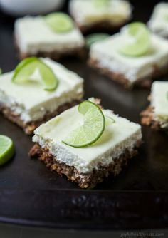 "<span style=""font-weight: 400;"">Easy Key Lime Cheesecake Bars made lighter with Greek yogurt and a delicious cinnamon pecan crust. This simple dessert is pure cheesecake perfection and guaranteed to win over the hearts of many! </span>  <a href=""http://www.joyfulhealthyeats.com/key-lime-cheesecake-bars/"" target=""_blank""><span style=""font-weight: 400;"">Get the Recipe from JOYFUL HEALTH..."