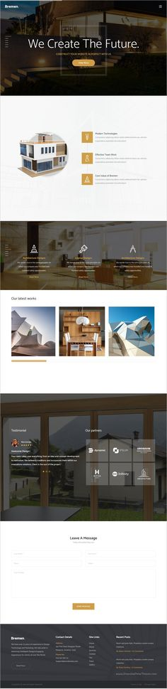 Bremen is a clean, modern and minimalist #bootstrap #theme made for #Architects website with 3 unique homepage layouts download now➩  https://themeforest.net/item/bremen-architecture-interior-and-renovation-template/18562651?ref=Datasata