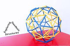 Engineering for Kids: Straw Geodesic Dome & Sphere http://babbledabbledo.com/stem-kids-straw-geodesic-dome/
