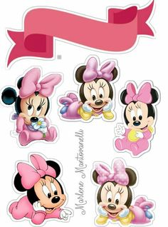 Festa Mickey Baby, Mickey E Minie, Bolo Minnie, Minnie Mouse Cake, Mickey Mouse, Little Poney, Aesthetic Stickers, Mouse Parties, Baby Disney