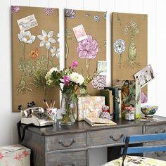 Los tablones de anuncios de la oficina en casa Botánico | ideas de diseño de oficina en casa País | Oficina Principal | GALERIA DE FOTOS | Country Homes and Interiors | Housetoh ...