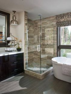 HGTV dream home bathroom. I do not like the light.