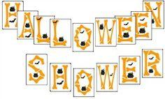 halloween baby shower   Halloween Baby Shower Banner