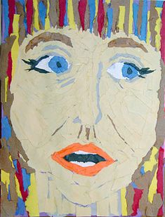 Fourth Grade Art Lesson 14 | Torn Paper Portraits Part 1 Exaggerating Expressions