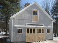 Building #g049 - Circle B Barn Company .... This company has some great barn/garage designs. This one would be a perfect woodshop. Main shop downstairs, finishing room/man cave upstairs.