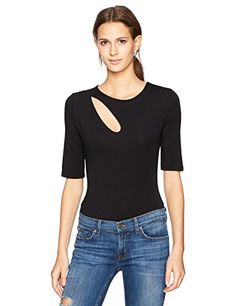 a60bad68089e7c Guess Womens Half Sleeve Specta Bodysuit Jet Black L     Find out more  about the great product at the image link.