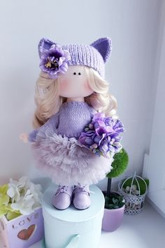 Фотография Crochet Doll Clothes, Knitted Dolls, Pretty Dolls, Cute Dolls, Doll Toys, Baby Dolls, Homemade Dolls, Fabric Toys, Soft Dolls