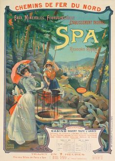 chemins de fer du nord - Spa - 1899 - illustration de Georges Blott -