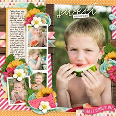 CTCandy - A Summer Afternoon by Kristin Cronin-Barrow Cindy's Layered Templates - Half Pack Photo Focus 86 by Cindy Schneider Photo Focus, Apple Fruit, Sweet Memories, Scrapbook Pages, Digital Scrapbooking, Make It Yourself, Templates, Creative, Layouts