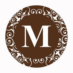 Personalized Chocolate Monogram Favor Stickers - OrientalTrading.com $5.00 FOR 48 PIECES