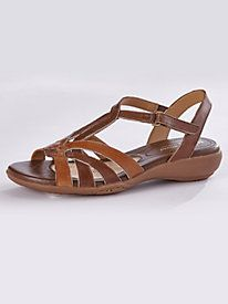 Your wish for all-day comfort and style has come true ~ Wishbone Comfort Sandals by Naturalizer® from Bedford Fair