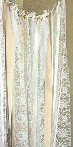 Lace wall hanging/backdrop...