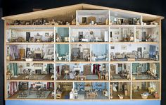 Dollhouse! Now this is a dollhouse! Could you get it through your real house doors?  I want it anyway!!!