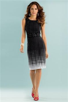 It's A Real Steal Dotted Sheath Dress. Office Dress Code.