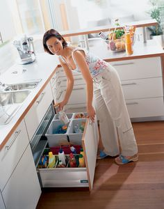 A great under the sink drawer! See everything at a glance, no more getting on hands/knees to see what's in the back!