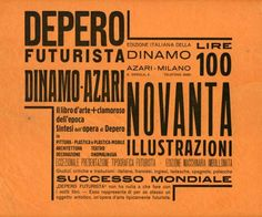 A page from Depero Futurista by Fortunato Depero, 1927.  From the collection of Spur Design.