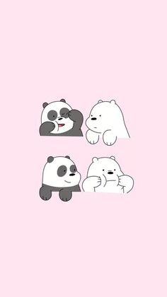 We Bare Bears who is your favourite bear? mine is Ice Bear🙆 We Bare Bears Wallpapers, Panda Wallpapers, Cute Cartoon Wallpapers, Moving Wallpapers, Ice Bear We Bare Bears, We Bear, Bear Wallpaper, Kawaii Wallpaper, Screen Wallpaper