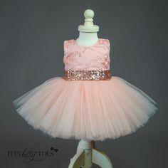 Princess Aisha Dress (Rose Gold) - Itty Bitty Toes  - 6