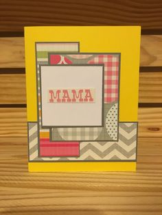 Mama handmade baby note by MerciCadeaux on Etsy