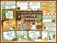 Tips and suggestions for a jungle themed classroom.  FREE jungle themed hallway passes for students to use.   Read this blog post about themes and decorations that can be used in elementary school classrooms.  Themes include dog, jungle, hollywood, pirate, and farm.