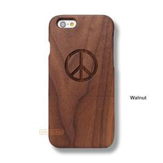 Peace Sign Logo iPhone 6S Case - iPhone 6/6S Solid Total Wood Case - ADTRD0096