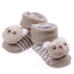 Bigood Pair Antislip Warmer Socks Jacquard Knitting Shoes Boots Bear Khaki ** To view further for this item, visit the image link. (This is an affiliate link) #BabyGirlShoes
